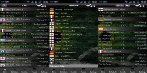 Aplikasi Jadwal dan Hasil Pertandingan Sepak Bola